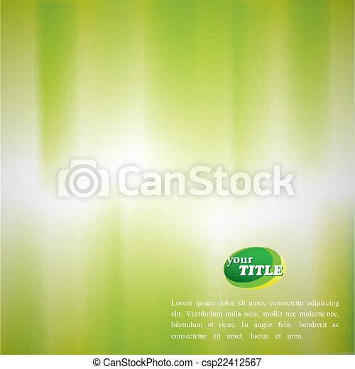 Trasfondo verde abstracto con efecto acuarela borroso - csp22412567