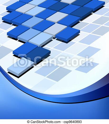 Trasfondo abstracto de negocios - csp9640893