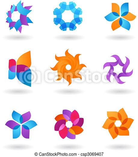 resumen, estrella, colección, iconos - csp3069407