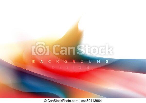 Diseño de pintura holográfica, colores fluídos, tormenta colorida. Liquido mezclando colores concepto de movimiento, moderno diseño abstracto plantilla de diseño para la presentación de negocios, aplicación pancarta de papel tapiz, poster o papel tapiz - csp59413964