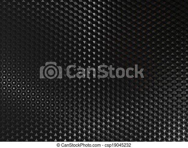 Trasfondo abstracto negro - csp19045232