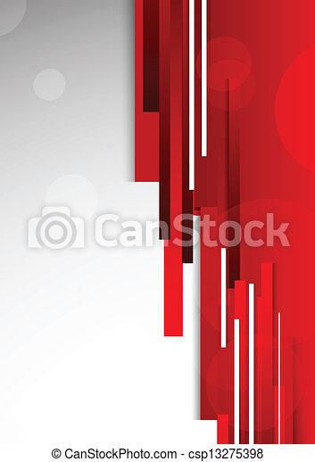 Abstracción de fondo rojo - csp13275398