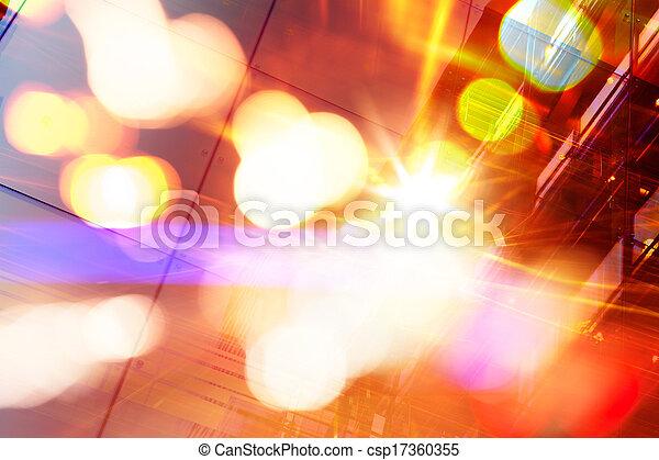Trasfondo futurista abstracto - csp17360355