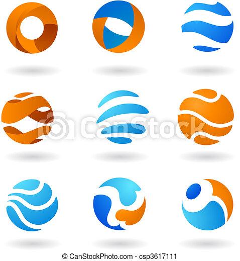 resumen, globo, iconos - csp3617111