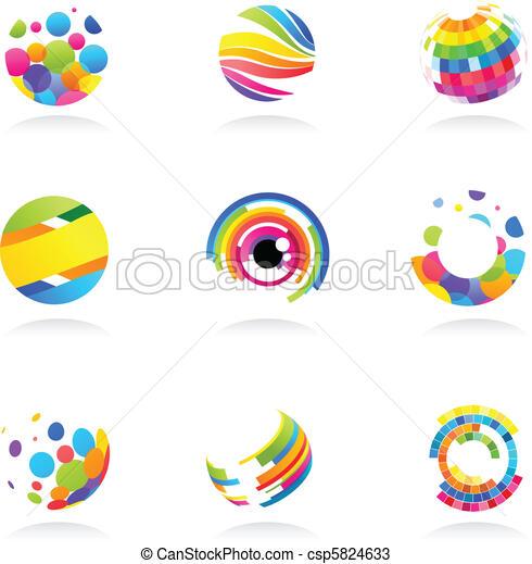resumen, globo, iconos - csp5824633