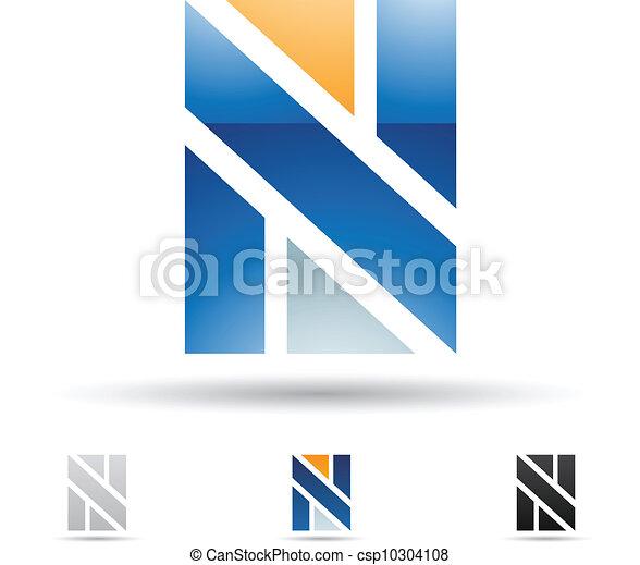 icono abstracto por letra N - csp10304108