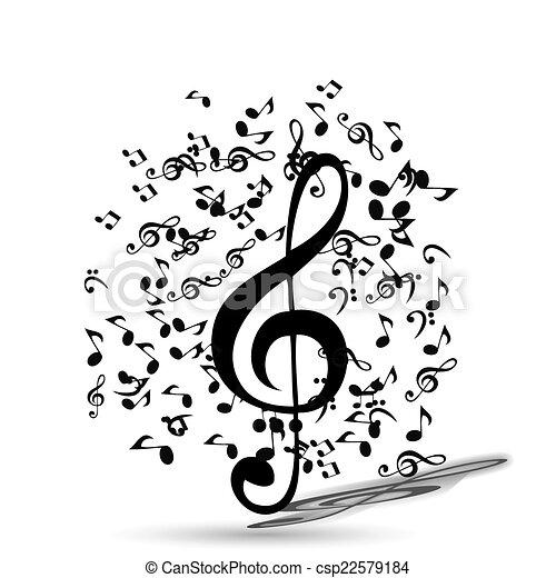 Trasfondo de música abstracto. Ilustración de vectores para tu diseño. - csp22579184