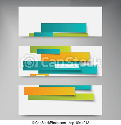 resumen, líneas, vector, folleto, tarjeta, design. - csp18944043