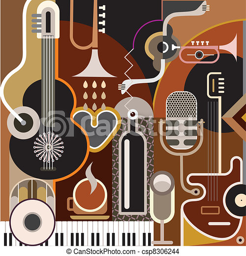 resumen, música, plano de fondo - csp8306244