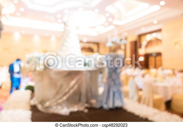 Abstracto salón de bodas borroso - csp48292023