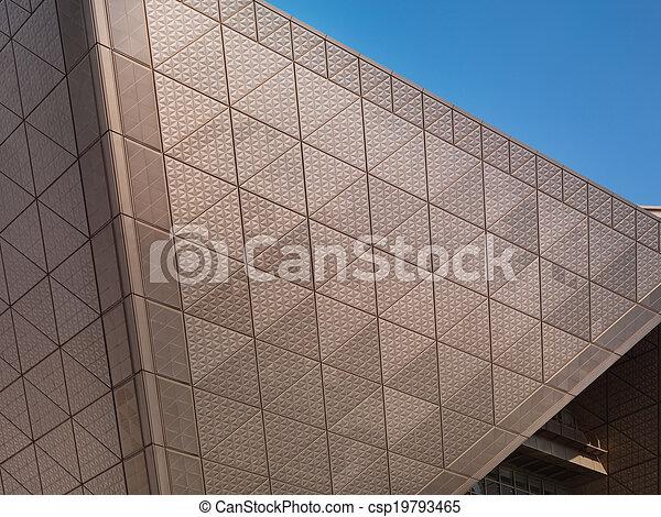Textura de metal arquitectónica abstracta - csp19793465