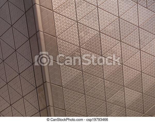 Textura de metal arquitectónica abstracta - csp19793466