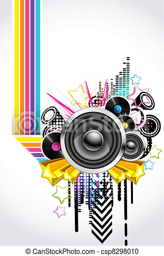 Un fondo musical abstracto - csp8298010
