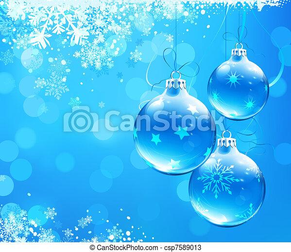 Trasfondo abstracto navideño - csp7589013