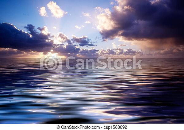 Abstraer el océano y el atardecer - csp1583692