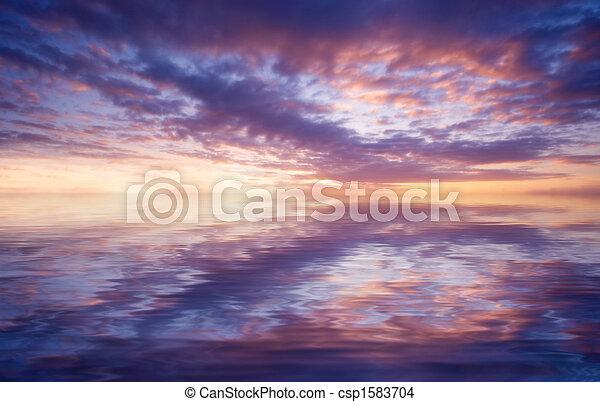 Abstraer el océano y el atardecer - csp1583704