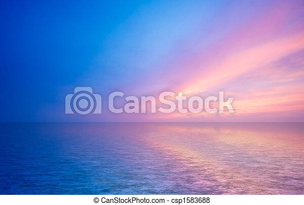 Abstraer el océano y el atardecer - csp1583688