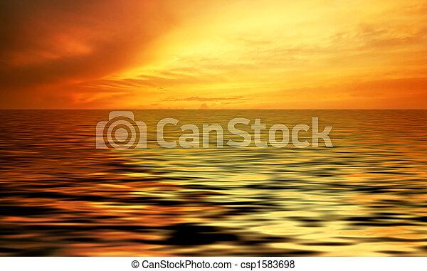 Abstraer el océano y el atardecer - csp1583698