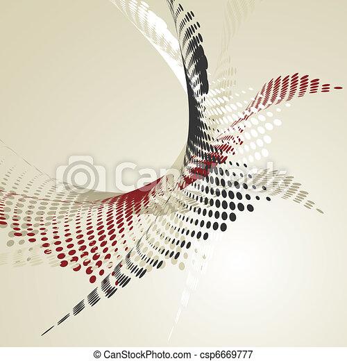 Trasfondo abstracto con Wavy Halftone - csp6669777