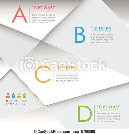 resumen, papel, 3d, infographics - csp15798086
