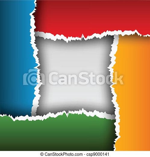Trasfondo abstracto con papel rasgado - csp9000141