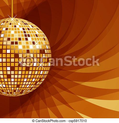 resumen, pelota, plano de fondo, oro, disco - csp5917010