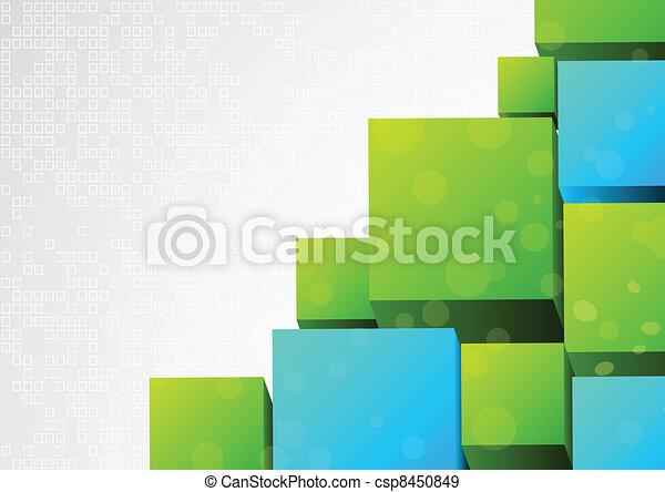 Abstracción 3d de fondo con bloque - csp8450849