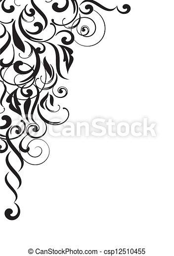 Trasfondo de curva abstracta - csp12510455