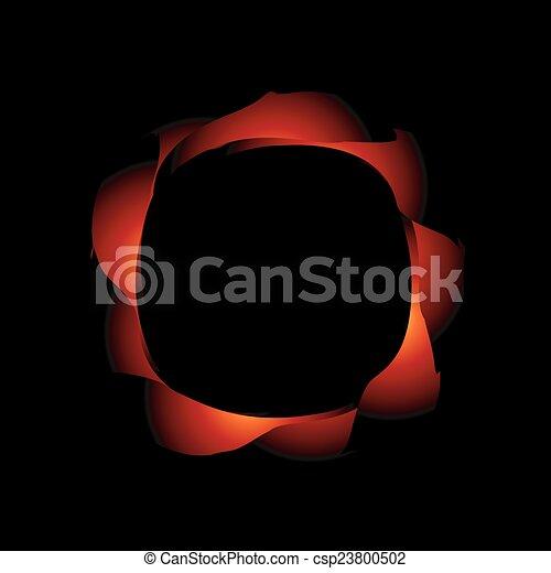 Planta de diseño abstracto - csp23800502
