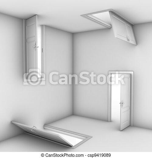 Puertas separadas - csp9419089