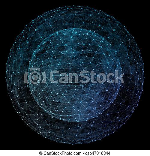Un globo de red abstracto. - csp47018344