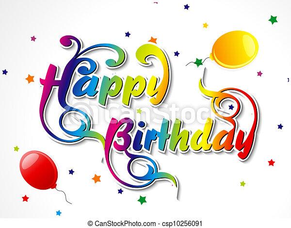 resumen, tarjeta de cumpleaños, feliz - csp10256091
