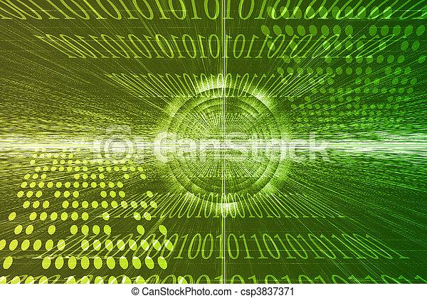 Tecnología futurista abstracta - csp3837371