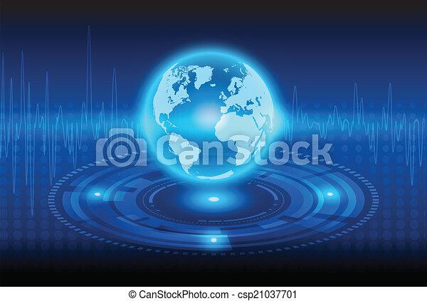 resumen, tecnología, globalización, plano de fondo, mecánico - csp21037701