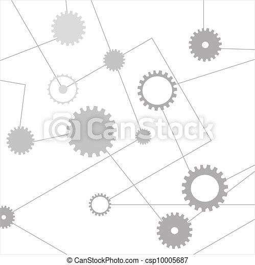Trasfondo de tecnología abstracto - csp10005687