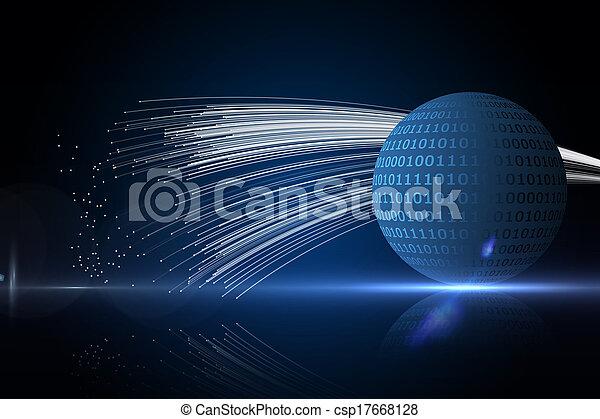 Trasfondo de tecnología abstracto - csp17668128