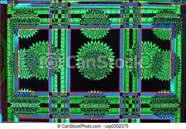 abstracto verde - csp0332375