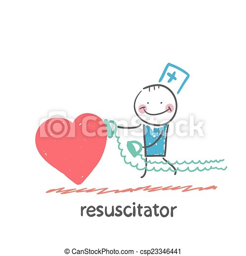 resuscitator hurry to the heart is sick - csp23346441