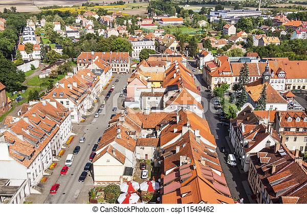 Reszel - aerial view. Poland. - csp11549462