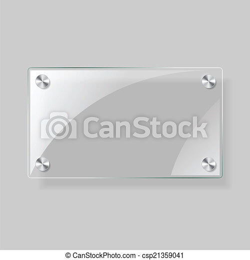 retângulo, avião, vidro - csp21359041