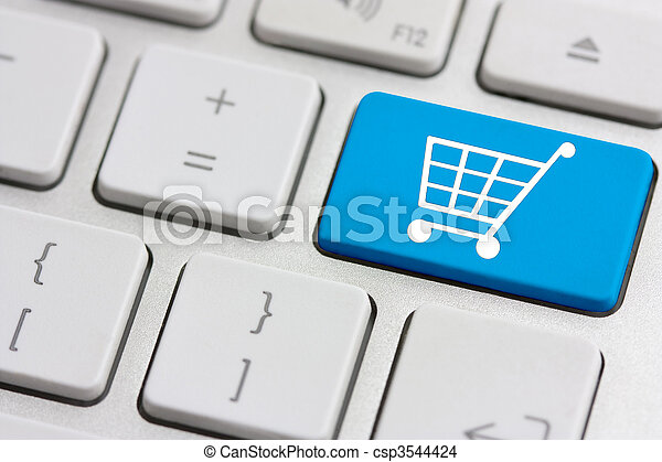 retail or shopping cart icon - csp3544424