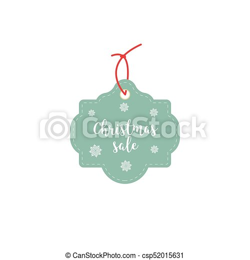 Retail Sale Tags and Clearance Tags. Festive christmas design with snowflakes. - csp52015631