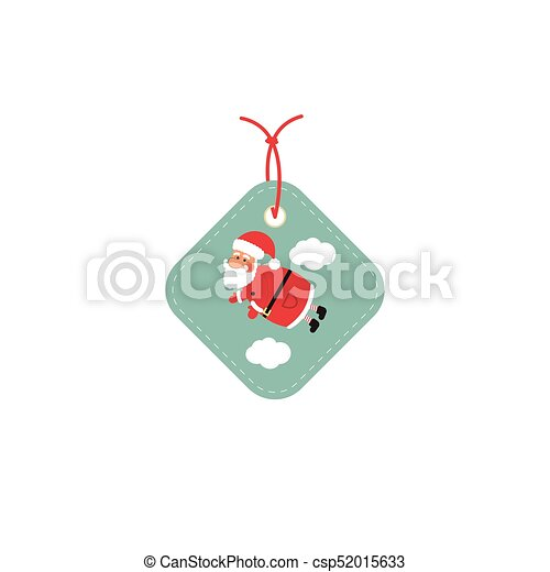 Retail Sale Tags and Clearance Tags. Festive christmas design with Santa Claus. - csp52015633