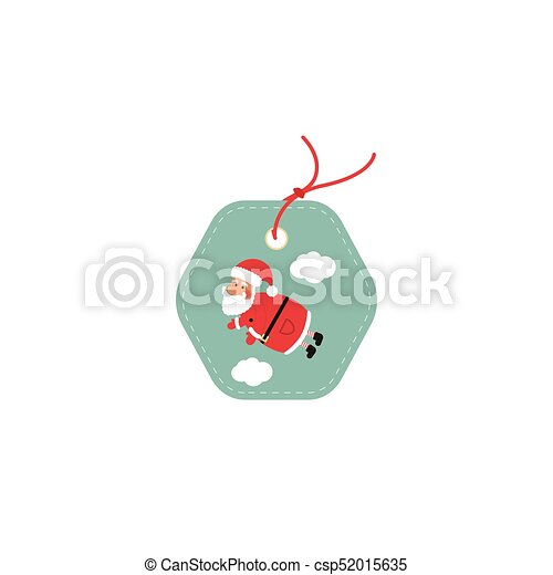 Retail Sale Tags and Clearance Tags. Festive christmas design with Santa Claus. - csp52015635