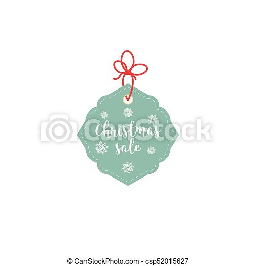 Retail Sale Tags and Clearance Tags. Festive christmas design with snowflakes. - csp52015627