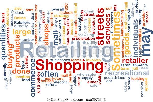 retailing, woord, wolk - csp2972813