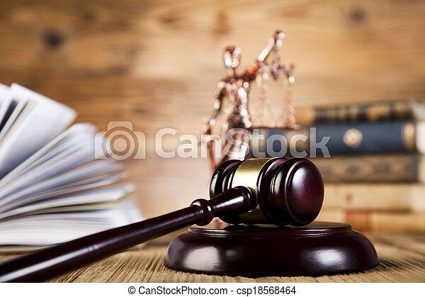 retfærdighed, begreb, kode, lovlig, lov - csp18568464