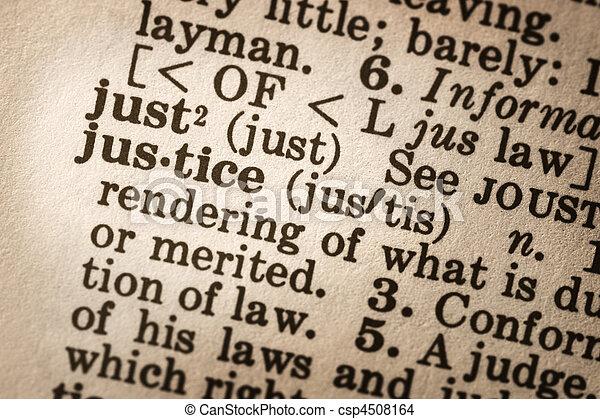retfærdighed, definition - csp4508164
