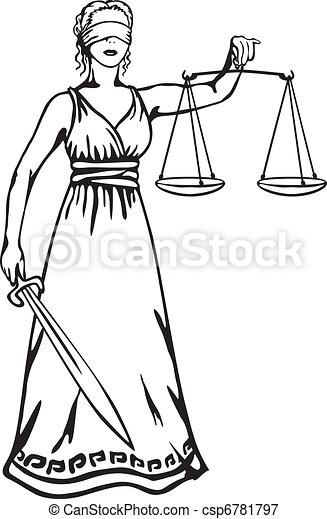 retfærdighed, -, gudinde, themis - csp6781797
