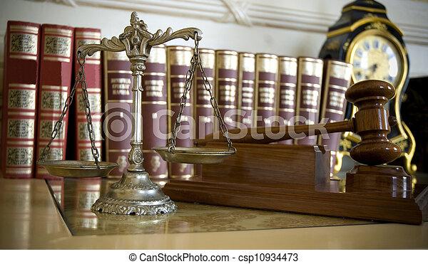 retfærdighed, lov - csp10934473